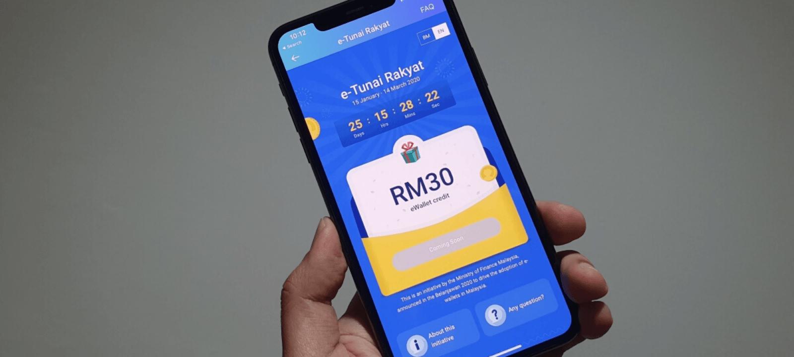 You Can Claim RM30 e-Tunai Rakyat Initiative with TNG eWallet, Boost or GrabPay